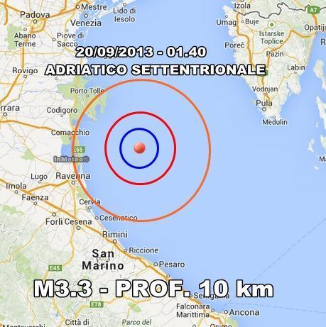 INGV Terremoto Oggi : monitoraggio 20 Settembre 2013