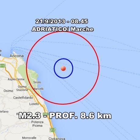 INGV Terremoto Oggi : monitoraggio 21 Settembre 2013