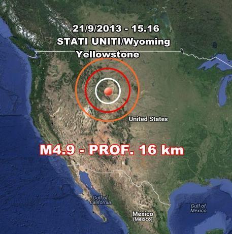 Supervulcano di Yellowstone : forte scossa registrata negli USA