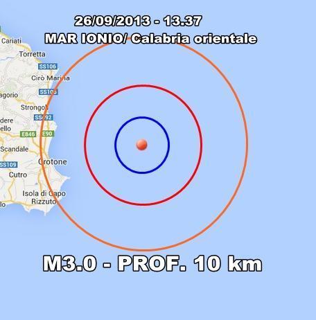Terremoto Calabria oggi : sisma moderato avvertito a Crotone