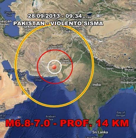 Terremoto Pakistan : nuova violenta scossa oggi 28 Settembre 2013