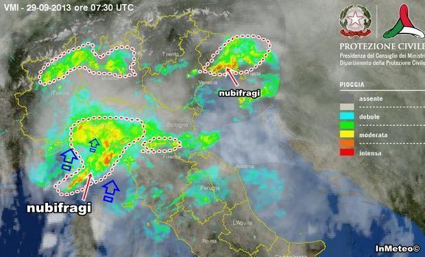 Maltempo : giornata temporalesca al Nord. Nubifragi in Liguria e Friuli