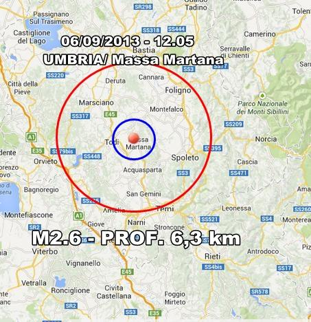 Terremoto Umbria : scossa superficiale ben avvertita