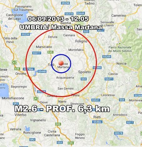 Terremoto Umbria : scossa superficiale ben avvertita