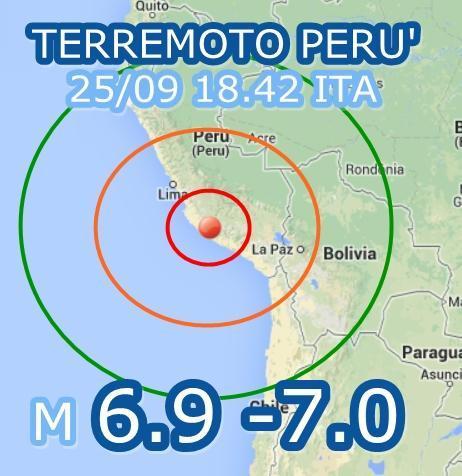 Terremoto Peru' oggi 25 Settembre 2013