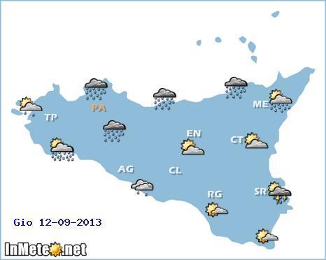 Allerta meteo Sicilia: forti fenomeni attesi soprattutto sull'area settentrionale dell'Isola e zona dello Stretto