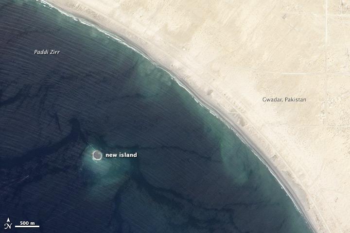 Isola nata a seguito del terremoto in Pakistan.