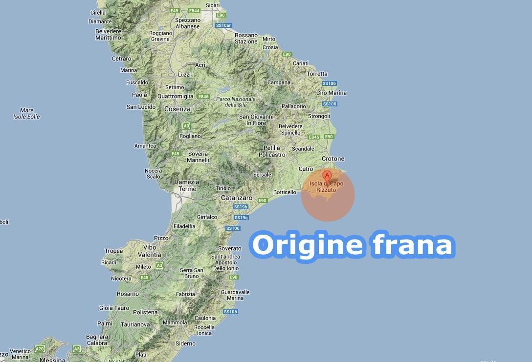 INGV: In atto enorme frana sottomarina vicino la Calabria