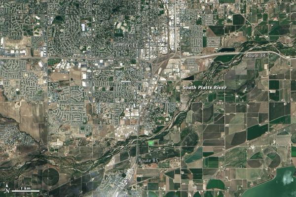 Greeley, Colorado, il 29 giugno 2013. NASA Earth Observatory immagine.