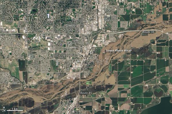 Greeley, Colorado, il 17 settembre 2013. NASA Earth Observatory immagine.