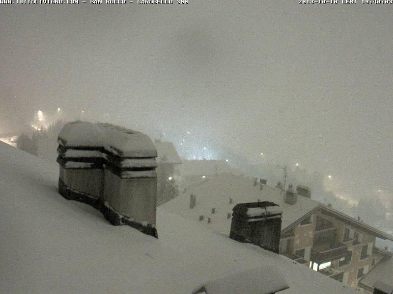 neve in atto a Livigno