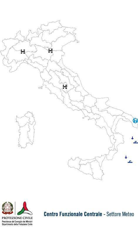 Previsioni meteo 18 Ottobre 2013 Italia: Bollettino della Protezione Civile. Fonte: www.protezionecivile.gov.it