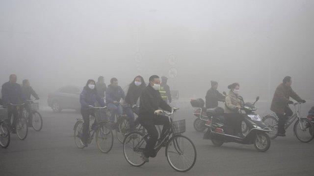 Inquinamento eccezionale in Cina