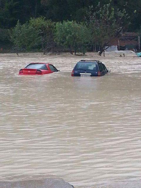 Alluvione Asciano 21 Ottobre 2013 : esonda l'Ombrone