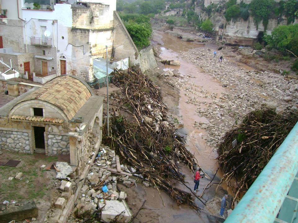Alluvione Ginosa - Paesaggio devastato