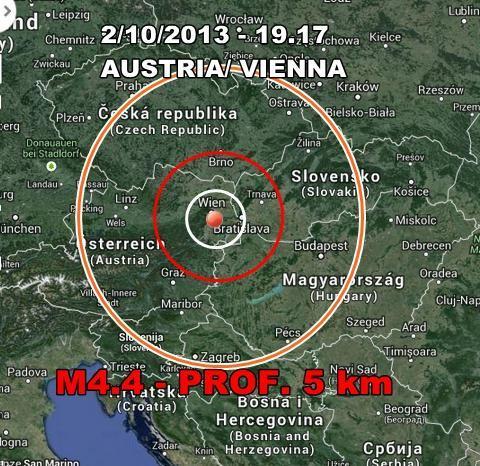 Terremoto Austria : intensa scossa avvertita a Vienna