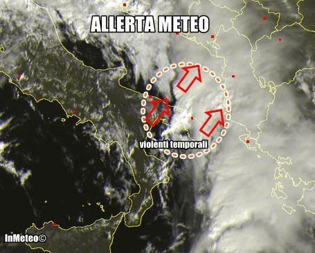 Allerta Meteo Puglia : violenti temporali in risalita