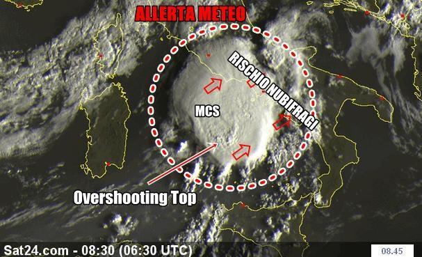 Allerta Meteo : MCS in arrivo sulla Campania