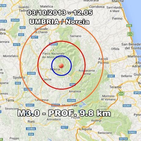 Terremoto Umbria Oggi : scossa chiaramente avvertita a Norcia