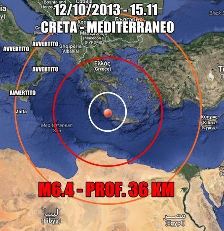 Terremoto Grecia : scossa avvertita su tutto il Sud Italia