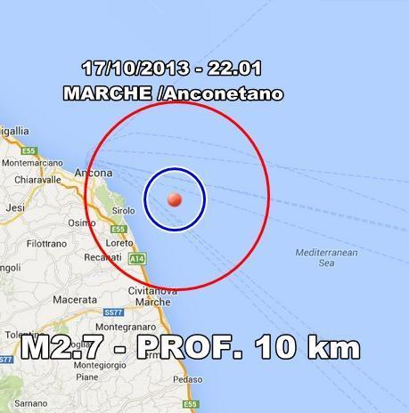 Terremoto Marche Oggi : scossa avvertita ad Ancona