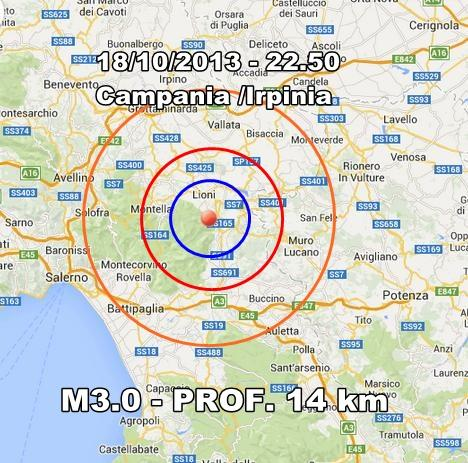Terremoto Campania Oggi : scossa avvertita in Irpinia