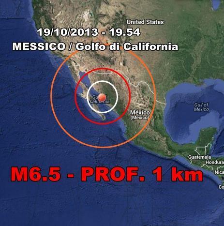 Terremoto Messico Oggi : violento terremoto colpisce il Golfo di California