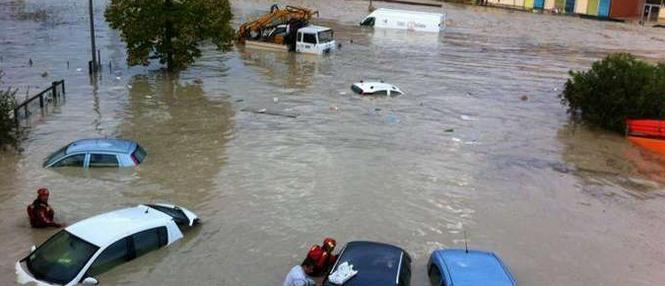 Alluvione Toscana 24 Ottobre 2013 : Saline di Volterra sott'acqua