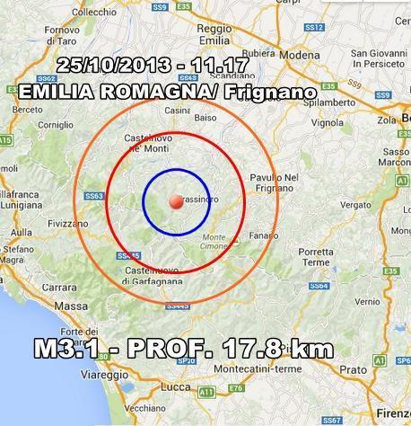 Terremoto Emilia Romagna Oggi : moderata scossa avvertita