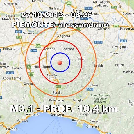 Terremoto Piemonte Oggi : scossa avvertita in mattinata