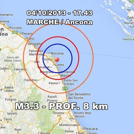 Terremoto Marche Oggi : scossa nettamente avvertita ad Ancona