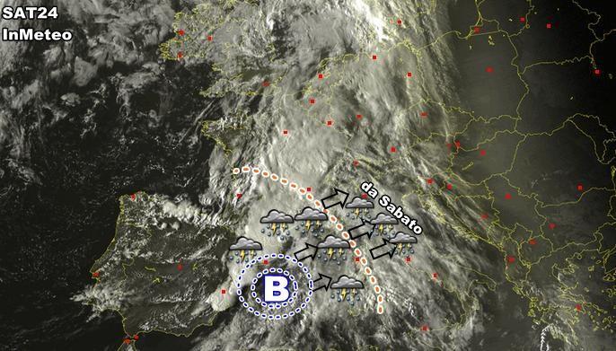 Meteo : ecco la perturbazione vista dal Satellite