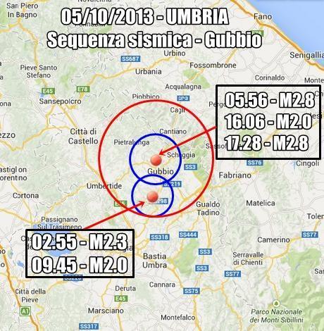 Terremoto Umbria Oggi : sequenza sismica in atto