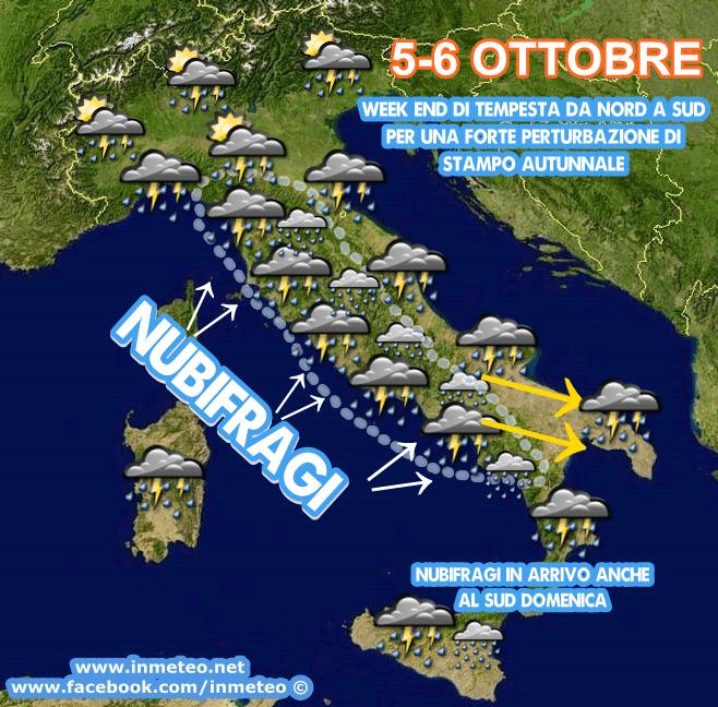WEEK END di tempesta sull'Italia