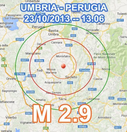 Terremoto Perugia oggi