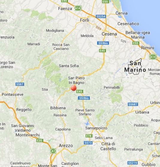 Terremoto oggi San Piero in Bagno: scossa nella bassa Emilia Romagna