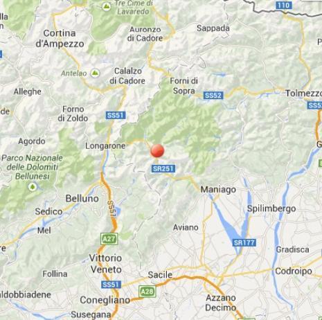 Terremoto oggi Belluno 31 ottobre 2013