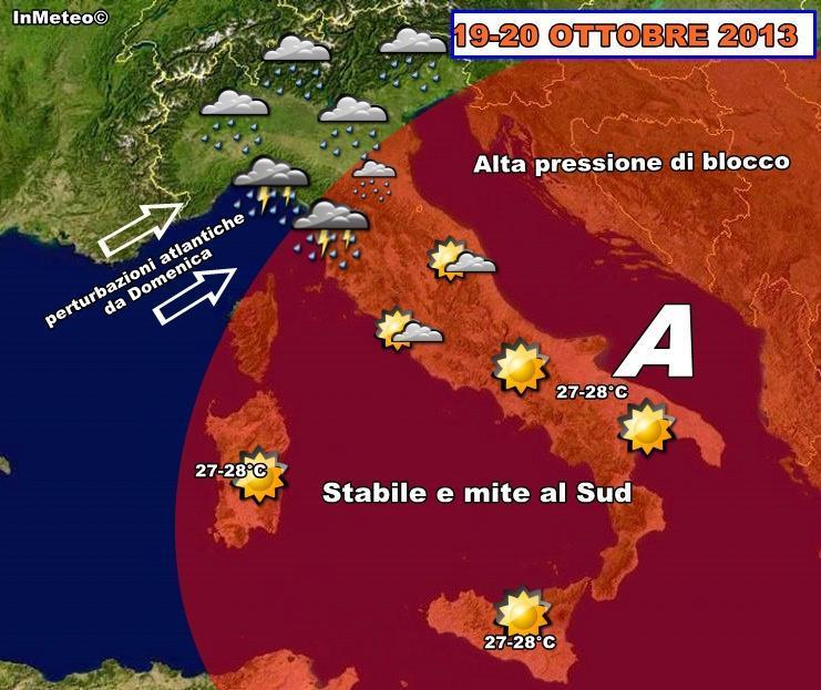 Meteo week-end : maltempo in arrivo Domenica al Nord