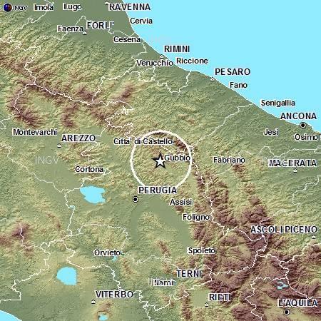 Terremoto oggi in Umbria: scossa avvertita a Gubbio