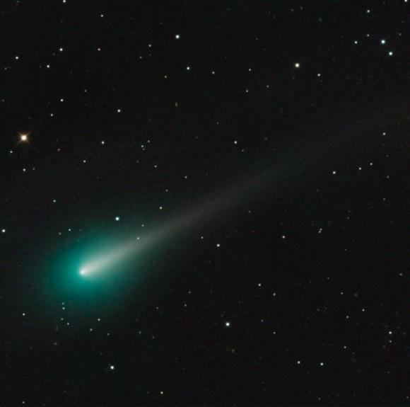 Comet ISON on October 8, 2013 as seen through the Schulman 0.8 Telescope atop Mount Lemmon at the University of Arizona SkyCenter. Credit: Adam Block/UA SkyCenter.