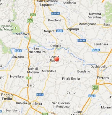 Terremoto Mirandola oggi: scossa avvertita fra Lombardia ed Emilia Romagna