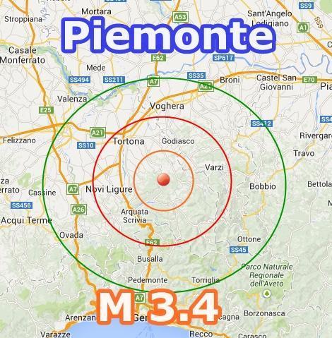 Terremoto oggi Piemonte-Lombardia