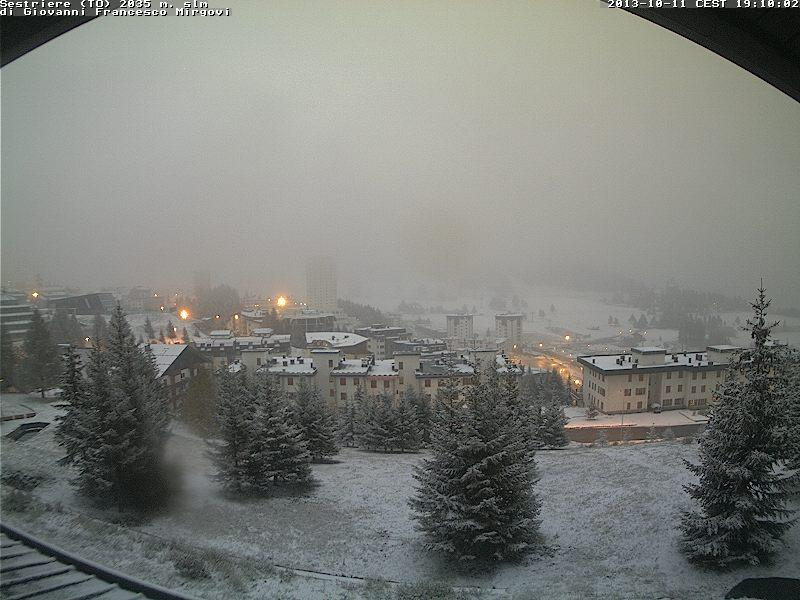 Riprende a nevicare a Sestriere, in Piemonte