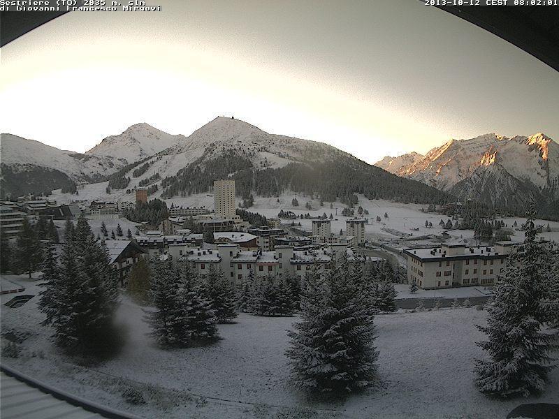 Neve al Sestriere, in Piemonte