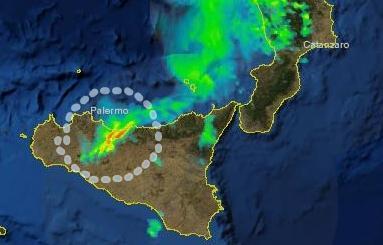 Nubifragio in atto su Palermo, piu' colpite le zone orientali