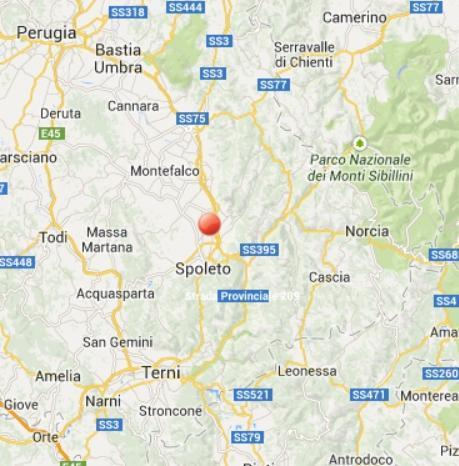 Terremoto Umbria oggi 1 Settembre 2013