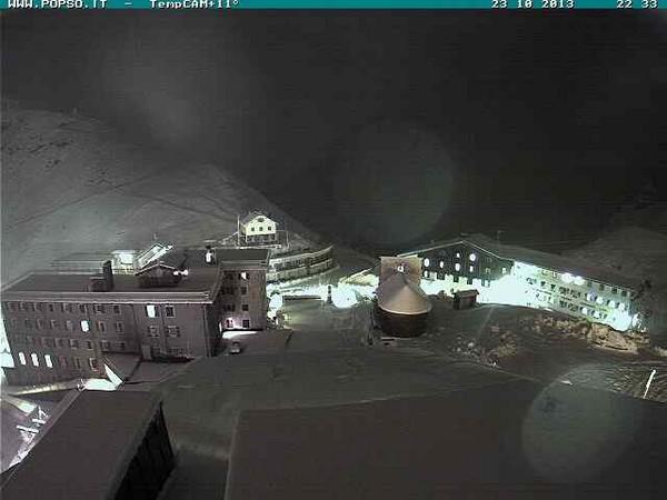 Immagine fissa - la nevicata di questa sera, 23 Ottobre 2013