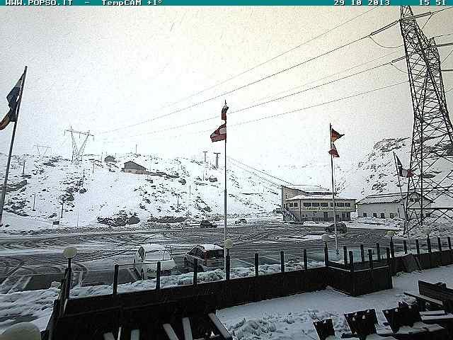 Neve al Passo dello Stelvio, 2700m s.l.m - 29 Ottobre 2013
