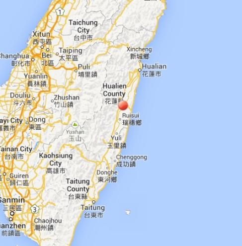 Terremoto oggi Taiwan: violenta scossa - 31 Ottobre 2013
