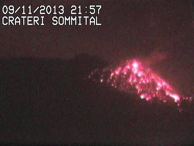 Eruzione Etna 9 Novembre 2013